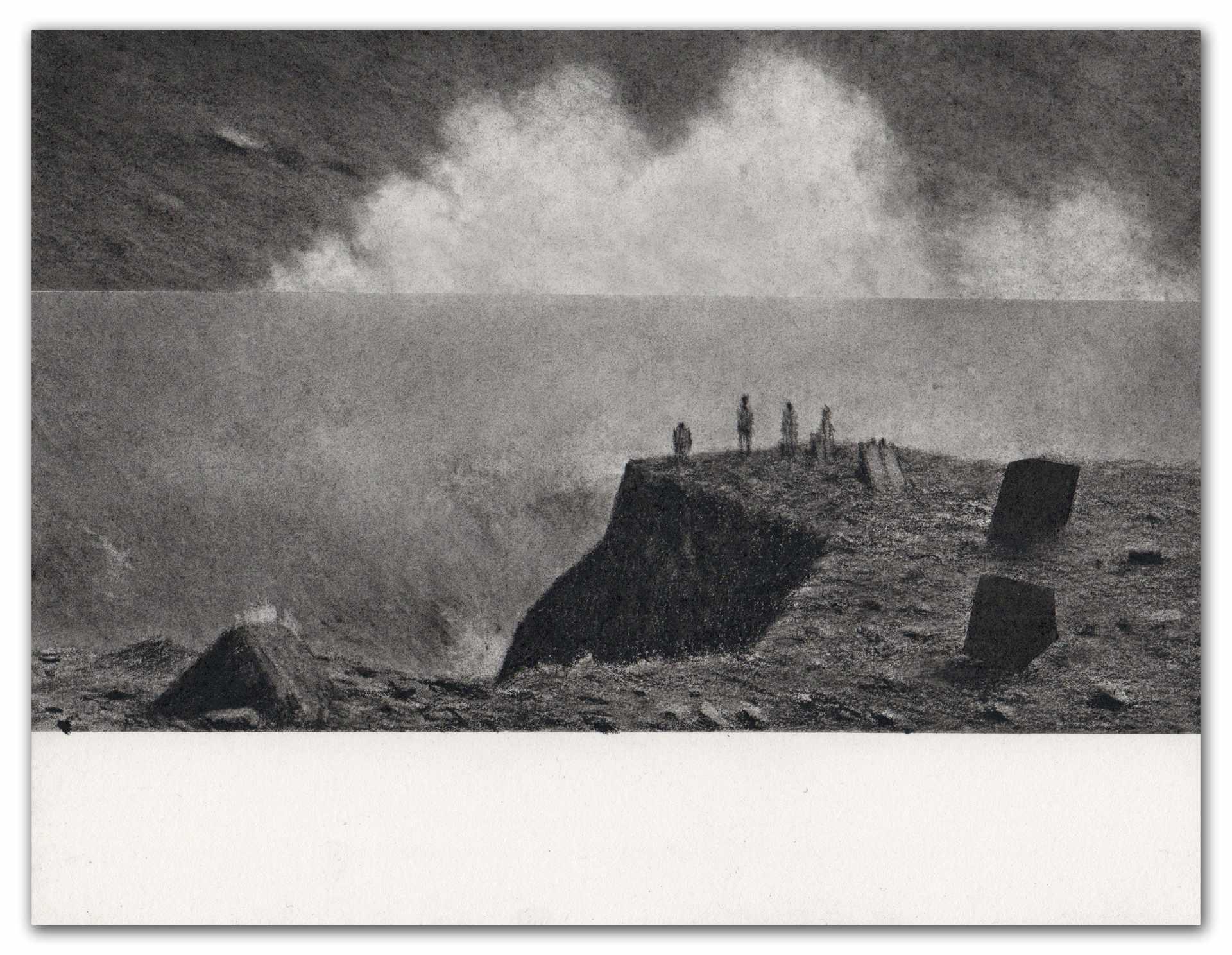 Dessin de Fabien Granet série Bords 20x26cm
