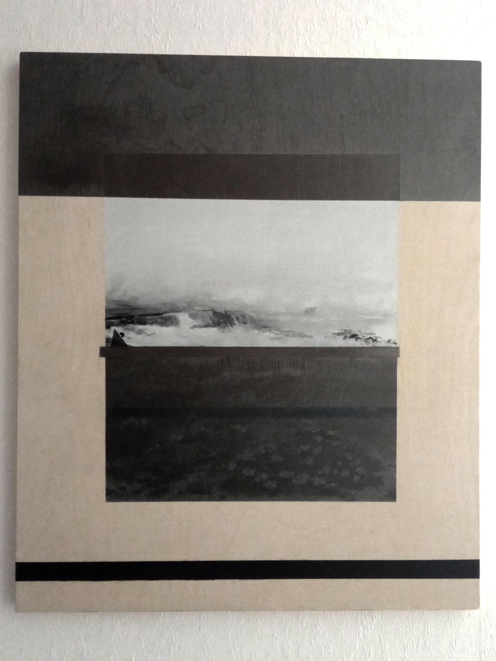 La Plage dessin de Fabien Granet sur bois_1